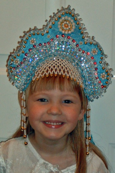 Kaylin wearing a Russian headdress