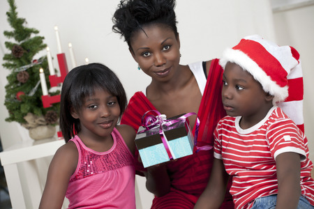 50557751 - cute christmas family with focus on kids
