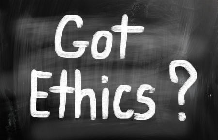 """Got Ethics"" on chalkboard"