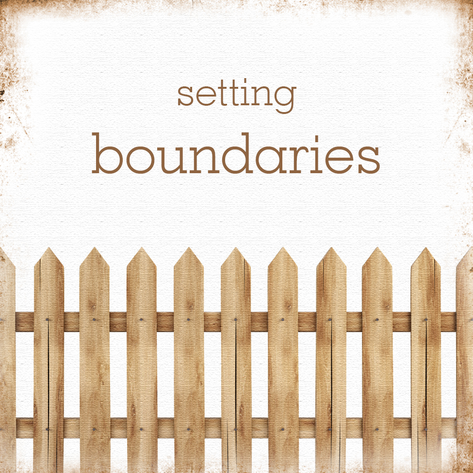 setting boundaries picture with fence