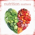 nutrition matters picture with food shaped like a heart