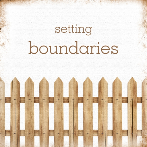Boundaries card with fence