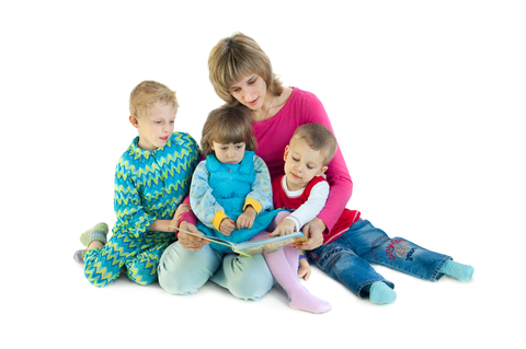 Mom with children