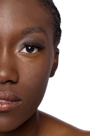 Black woman half face