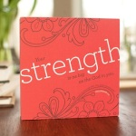 Strength on red canvas