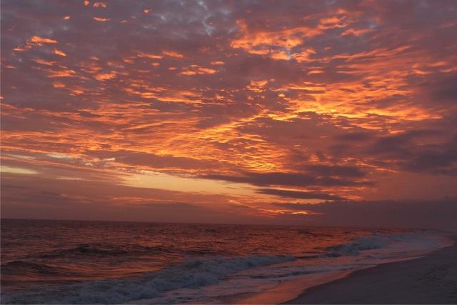 Golden Pensacola Florida sunset