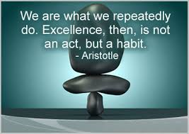 """Habits"" quote by Aristotle"