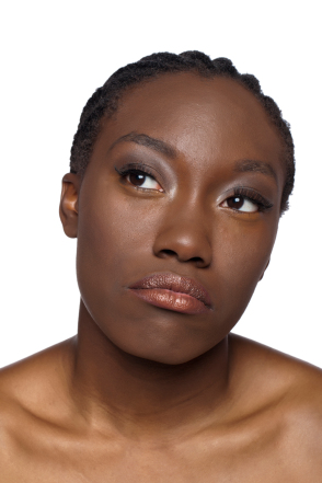 Black woman contemplating