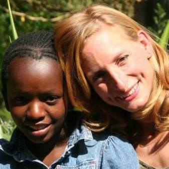 Kate with One of Her Orphans-no-More