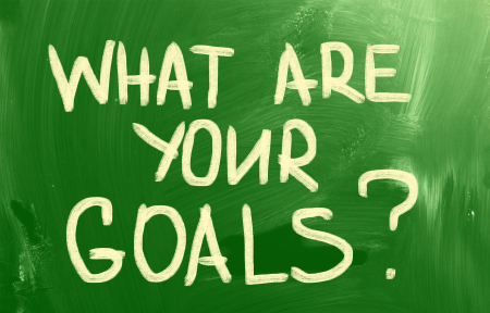 What are your goals? on green chalkboard