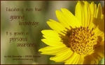 Photo graphic with yellow daisy