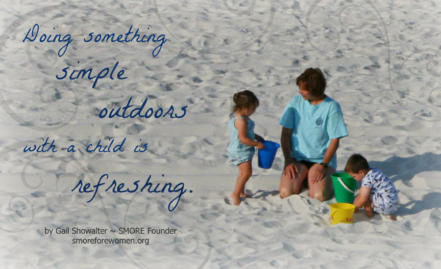 Doing something outdoors is refreshing photo graphic on beach