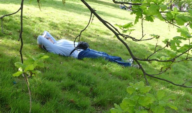 Me on lawn in Greenwich