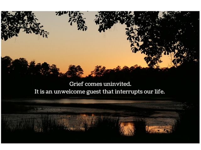 Grief comes uninvited. It is an unwelcome guest that interrupts our life.