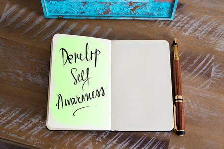 58914709 - handwritten text develop self awareness