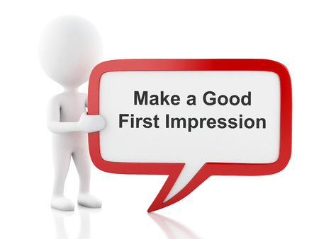 Make a Good First Impression in bubble
