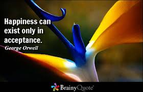 Bird of Paradise with quote-Happiness can exist only in acceptance -George Orwell