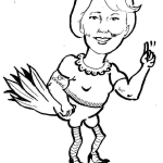Cartoon of Gail as tough old bird
